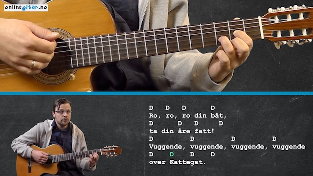 Enkle Popsanger På Gitar